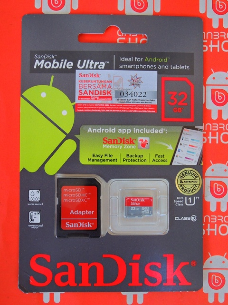 Gratis Ongkos Kirim Jne Sejabodetabek Detil Produk Micro Sd Sandisk 32gb Class 10